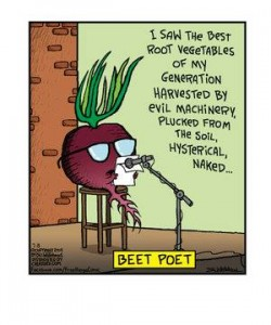 Cartoon about beet poetry
